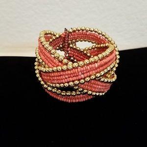 Jewelry - Seed bead cuff bracelet